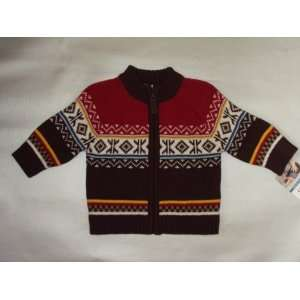 Carters Boys Mini Blues Brown Multi Cotton Knit Cardigan Sweater