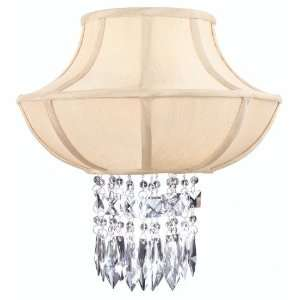 Cascade Collection 2 Light 14 Polished Chrome Crystal Wall Sconce