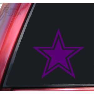 Star With Outline Vinyl Decal Sticker   Purple Automotive