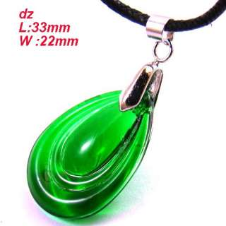 c8283 Green Sparking Teardrop Bead Crystal Pendant Necklace Fashion