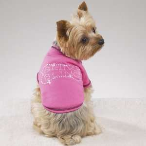 Dog Puppy Pet Clothing Apparel T Shirt Bling Bling Pink