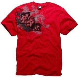 Fox Racing Presto T Shirt   Small/Red Automotive