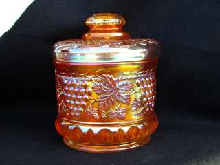 Cable Humidor Northwoods Marigold Carnival Glass Great Color
