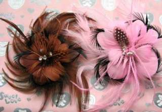 Girls baby flower hair bow clips brooch handmand 1 pcs