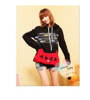 New Japan Fashion Lovely Cat And fish Image Hoodie Sweater Long Cotton