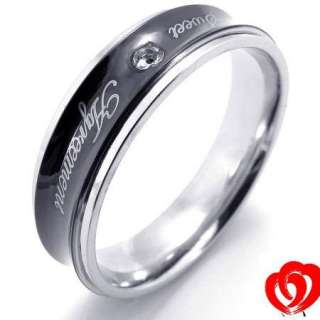 New Men Women Stainless Steel Love Ring Size 7 11 Gift