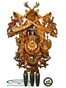Black Forest Cuckoo Clock 8 Day The Hunting Clock 24
