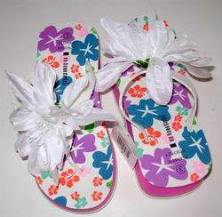 GIRLS WHITE SANDALS flip flops SHOES 3 free ship
