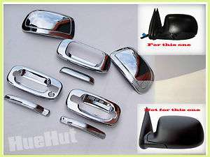 Silverado Sierra Chrome Handle Tailgate Mirror Covers