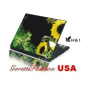 15.4 Laptop Notebook Skins Sticker Cover H61 Sun Flower Skin
