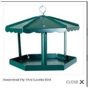Homestead Fly Thru Gazebo Bird Feeder Patio, Lawn