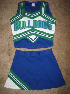 NEW BULLDOGS Cheerleader Uniform Outfit Halloween Cheer Costume 32/25