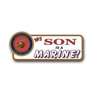 US Marine Pride My Son is a Marine Bumper Sticker Decal