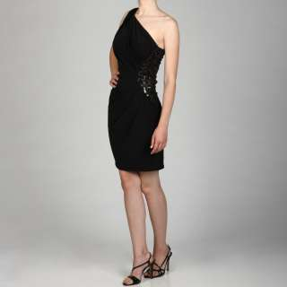 Jessica Simpson Womens One shoulder Sequin Waisted Dress
