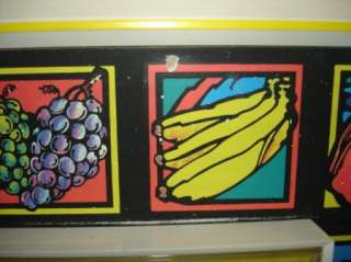 Vtg GE Fluorescent Fruit Wall Clock Black Light Clock
