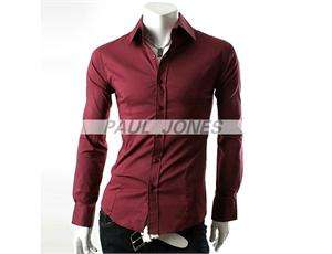 Mens Casual Formal Slim fitted Dress Shirts Collection SZ XS~M