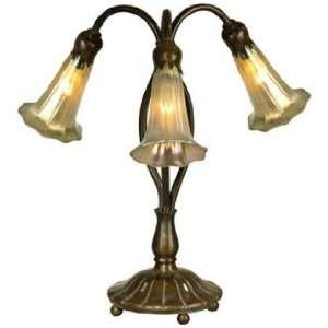 Lily Luster Twist 3 Light Dale Tiffany Table Lamp