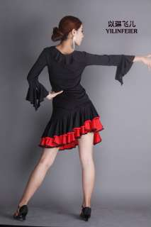 NEW Latin salsa cha cha tango Ballroom Dance Dress Top & Skirt #P093