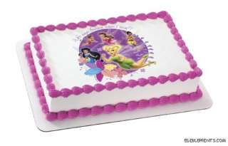 Tinkerbell Fairies Edible Image Icing Cake Topper