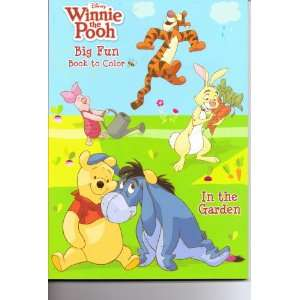 Pooh Big Fun Book to Color ~ in the Garden Disney Enterprises Books