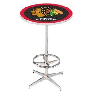 36 Chicago Blackhawks Black Counter Height Pub Table
