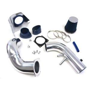 96 04 03 Ford Mustang GT V8 4.6L Cold Air Intake Kit Polish with Blue