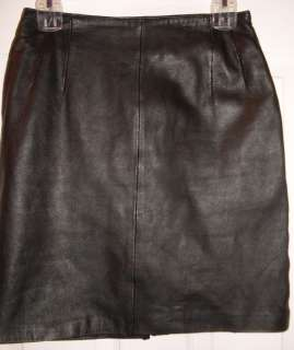 WOMEN DONT STOP GENUINE LEATHER BLACK SKIRT