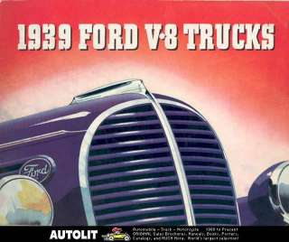 1939 Ford V8 Truck Brochure Pickup Panel Stake COE