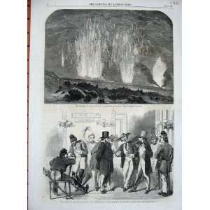 1862 Eruption Mount Vesuvius Slidell Mason American Bar