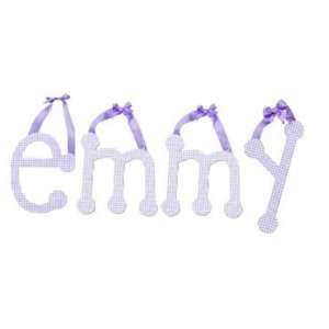 My Baby Sam Wall Hanger Lower Case Letter R, Lavender Gingham R Baby