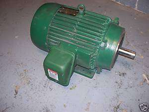 Toshiba Electric Motor 15 Horse Power 3 Phase Good Used