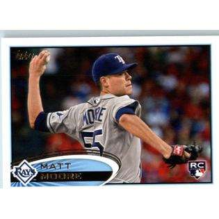 2012 Topps Baseball Card #129 Matt Moore RC   Tampa Bay Rays Rookie
