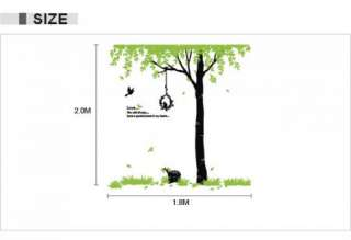 Tree and Birds Vinyl Room Wall sticker Art Papers Decal EA310