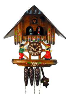 Black Forest Cuckoo Clock 1 Day Music Dancer 10.6 NEW
