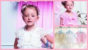 NWT Boutique GIRL Sweet Princess Gorgeous Lacy Full Of Satin Bows Vest