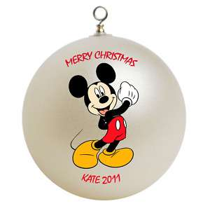 Personalized Mickey Mouse Christmas Ornament Gift