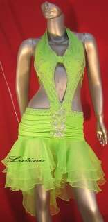 LATIN SALSA (BALLROOM) COMPETITION DRESS SIZE S (LT116)