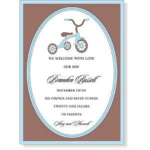 Childrens Birthday Party Invitations   I Like Trike Blue