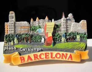 SOUVENIR BARCELONA 3D RESIN FRIDGE MAGNET