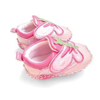 Pink Faux Leather Toddler Baby Girls Butterfly Walking Shoes 3 18