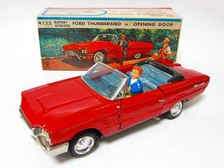 Japanese BC BANDAI Ford Thunderbird w opening DOOR CAR Tin Toy