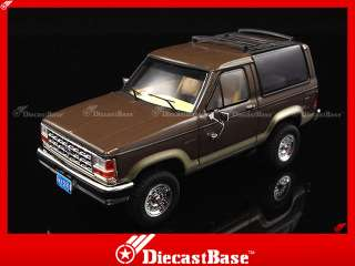PREMIUM X Ford Bronco II 1989 2 Tones Brown Diecast Road Car Jeep 143