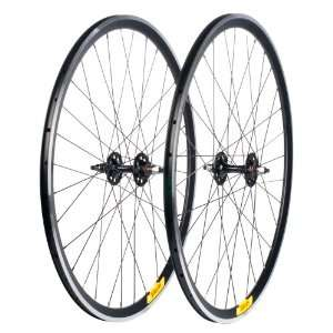 Velocity Deep V Road Wheel Set   700c Rim, Redline Hub, Black