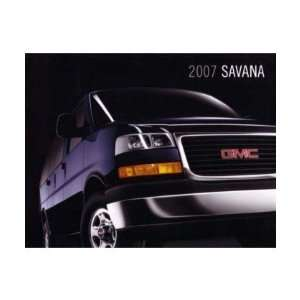 2007 GMC SAVANA Sales Brochure Literature Book Piece