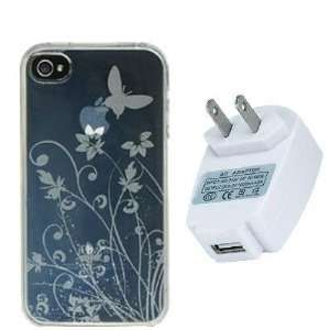 Electromaster(TM) Brand   Clear Flower TPU Rubber Skin