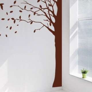 Big Corner Tree Adhesive WALL STICKER Removable Decal