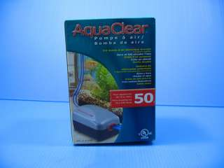 Hagen AquaClear #50 Air Pump   aquarium 20 50gal filter