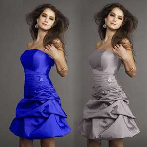 Formal Party strapless Evening Dress ball gown crumple noble JK