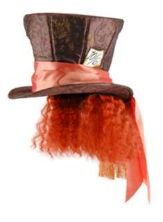 Mad Hatter Hat with Hair   Alice in Wonderland Costume Accessories