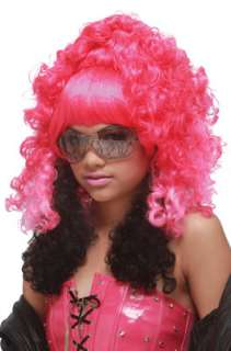 Rap Princess Costume Wig (Pink/Black) for Halloween   Pure Costumes